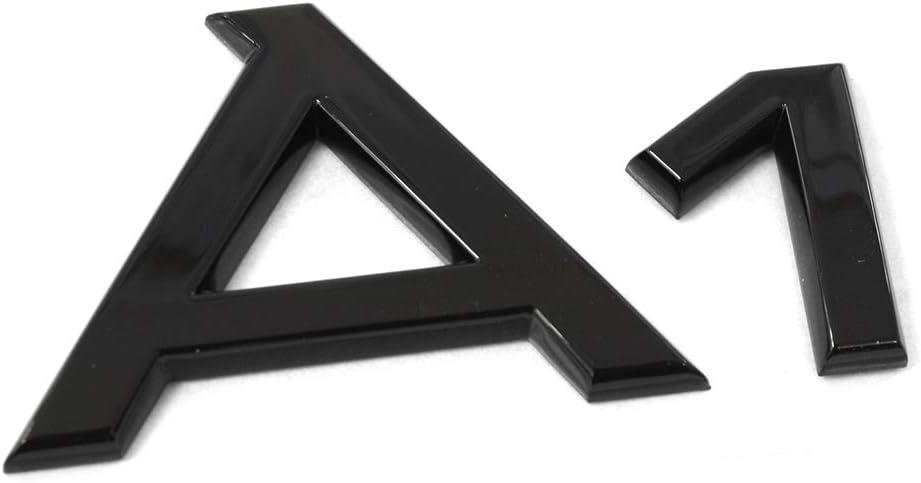 Audi 82a071803 Schriftzug A1 Logo Schwarz Tuning Exclusive Black Edition Emblem Selbstklebend Auto