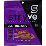 Stryve Original Biltong | Low Fat, Low Carb, Low Sugar | 12g Protein | 2.25oz | Gluten Free and Ketogenic