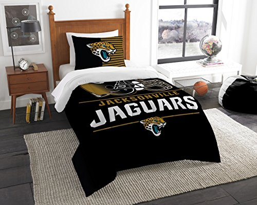 (The Northwest Company Jacksonville Jaguars NFL Twin Comforter Set (Draft Series) (64