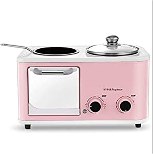 HCHENX Mini Oven Four In One Breakfast Machine, Electric Oven Toaster Sandwich Maker Versatile Cooking Adjustable Temperature Timer Function Accessories Included Various Capacities (1.2L) Toaster Oven