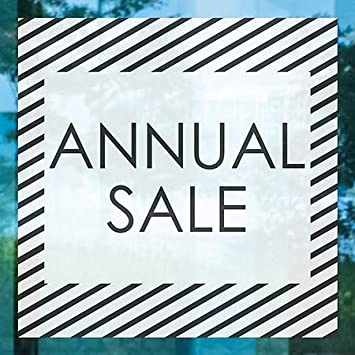 Annual Sale 24x24 CGSignLab 5-Pack Stripes White Window Cling