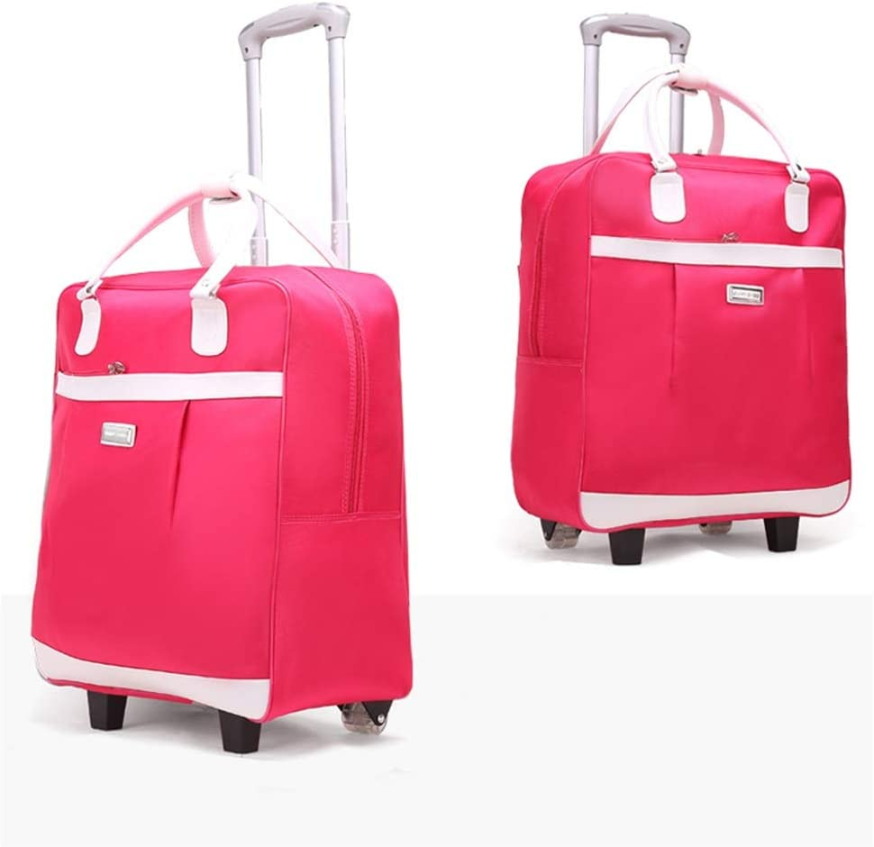 Color : Rose red, Size : 401965.5cm ZHANGQIANG Suitcase Travel Trolley Case Cabin Approved Wheeled Trolley Bag Hand Luggage