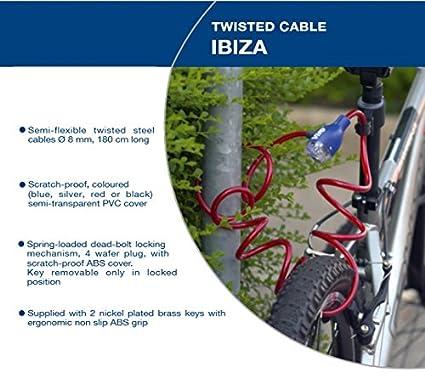 Cerradura de cable trenzada de alta calidad IBIZA AZUL ...