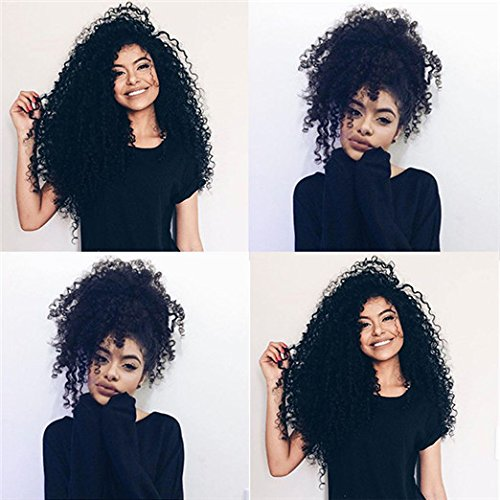 3B 3C Afro Kinky Curly African American Clip in Human Hair Extensions Brazilian Virgin Hair Kinky Curly Clip Ins For Black Women (20 inches)