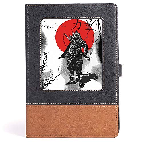 Japanese - Business Notepad Daolin Paper - Portrait of Skilled Educated Aristocrat Ancient Knight with Weapon Man of War Image - 100 sheets/200 pages - A5/6.04x8.58 ()