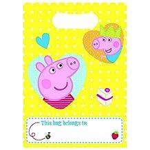Peppa Pig & George Party Loot Bags - Pack of 8