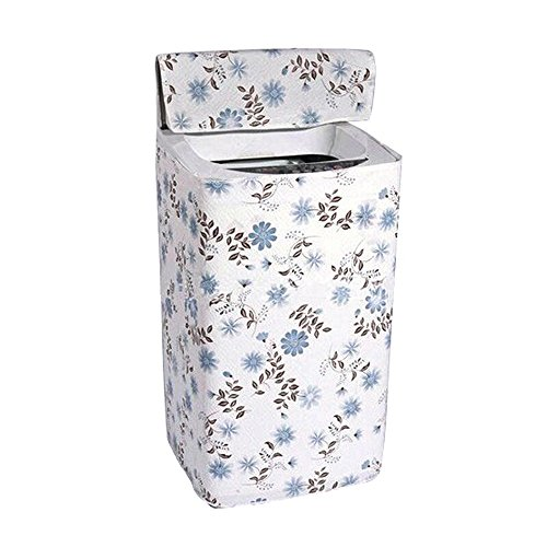 Price comparison product image MyLifeUNIT Blue Print Top Load Washer Washing Machine Cover