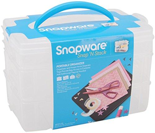 Snapware Snap 'n Stack Craft Organizer Medium Rectangle-3 (Snapware Craft Organizer)