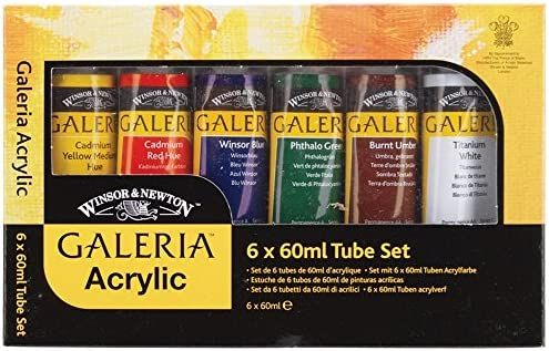 Amazon.com: Winsor and Newton 60-Milliliter Galeria Acrylic ...