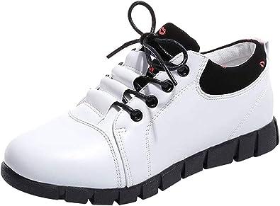 Zapatillas de Deportivo Running Plano para Mujer Otoño Invierno 2018 Moda PAOLIAN Calzado Piel Sintético Dama Casual Zapatos de Cordones Estudiante Suela Blanda Señora Cómodos Aire Libre y Deporte: Amazon.es: Zapatos y