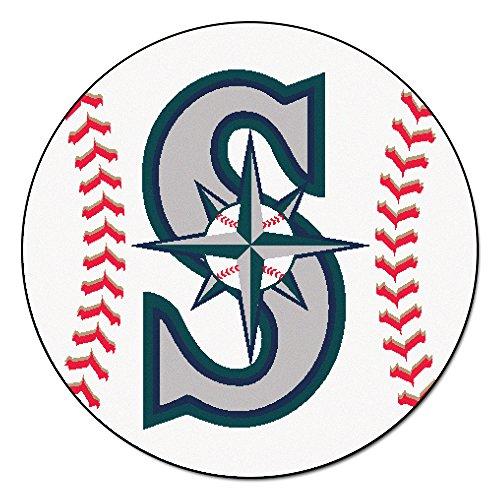 [FANMATS MLB Seattle Mariners Nylon Face Baseball Rug] (Seattle Mariners Baseball Rug)