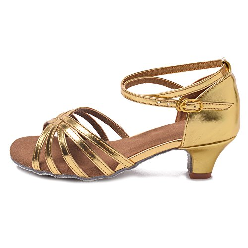 Salsa Shoes Performance Standard Latin Model 1 Gold Ballroom Dance Women's Shoes YKXLM UKXGG wpBqXtS1