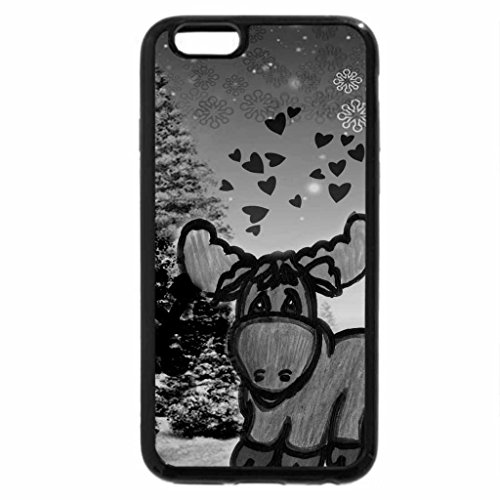 iPhone 6S Plus Case, iPhone 6 Plus Case (Black & White) - Winter Moose