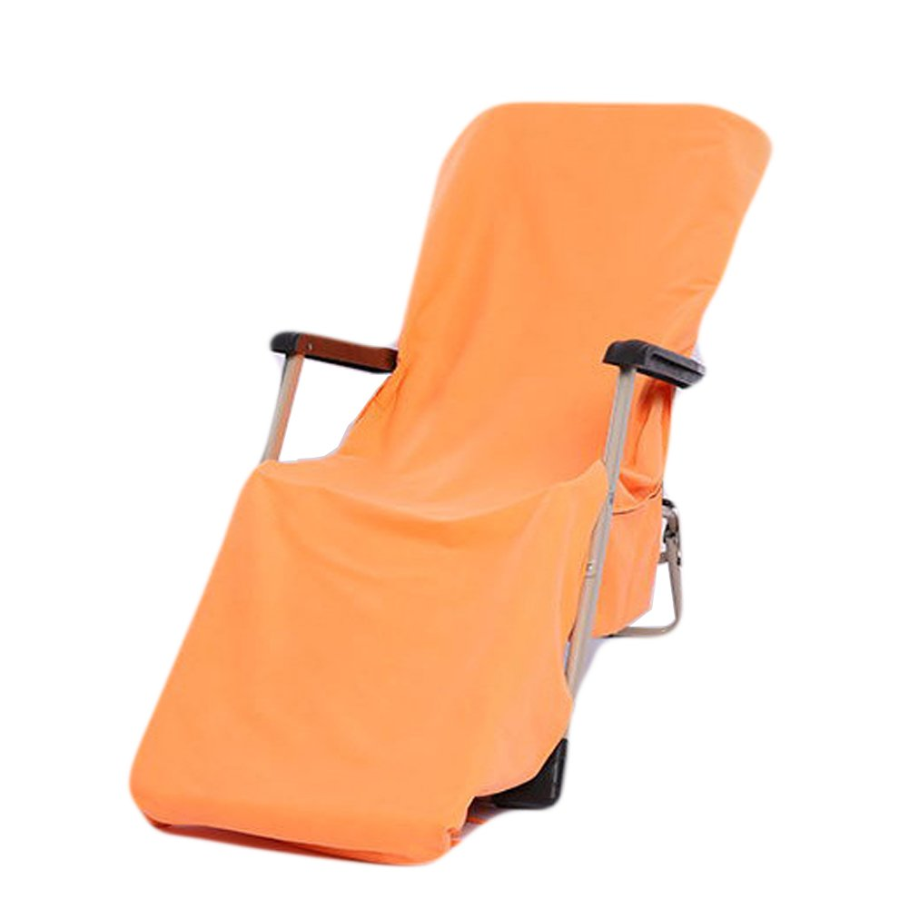 WiseHome Orange Lounge Chair Slipcover Super Soft Thin Recliner Liner Cover Absorbent Breathable Clean Chaise Lounge Cover for Beach Chair Comfortable Sunbathing