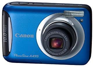 Canon PowerShot A495 10.0 MP Digital Camera with 3.3x Optical Zoom and 2.5-Inch LCD (Blue) (B0032JRRXY) | Amazon price tracker / tracking, Amazon price history charts, Amazon price watches, Amazon price drop alerts