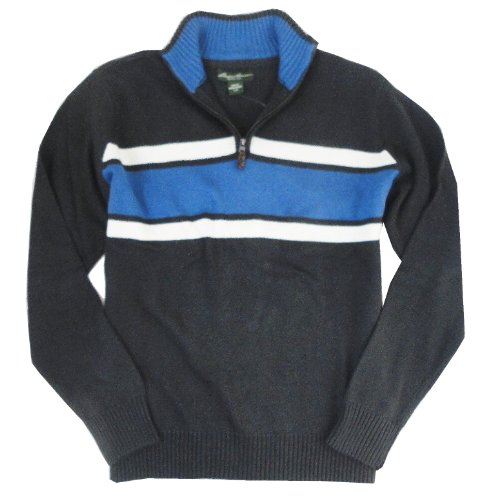 Eddie Bauer Mens Signature Cotton Chest Stripe Quarter-Zip