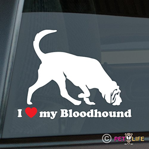 Mister Petlife I Love My Bloodhound Sticker Vinyl Auto Window blood hound ()