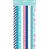 Pebbles Winter Wonderland Collection Christmas Washi Tape Book (12 Pack)