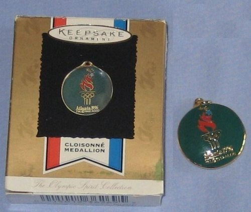 Hallmark Keepsake Ornament Cloisonne Medallion From The Olympic Spirit Collection, Atlanta 1996 (Christmas Ornament 1996)