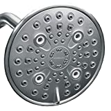 ShowerMaxx, Elite Series, 6 Spray Settings 6 inch Adjustable High Pressure Rainfall Shower Head, MAXX-imize Your Shower with Easy-to-Remove Flow Restrictor Showerhead, Polished Chrome Finish