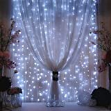 AGPtek®3Mx3M 300LED Outdoor Christmas Xmas Party String Light Wedding Curtain Light Home Decoration (White)
