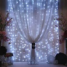 AGPtek®3Mx3M 300LED Outdoor Christmas Xmas Party String Light Wedding Curtain Light Home Decoration (White)