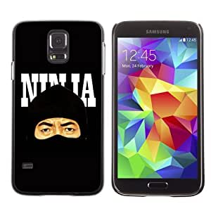 Licase Hard Protective Case Skin Cover for Samsung Galaxy S5 - Cool Stealth Ninja Illustration