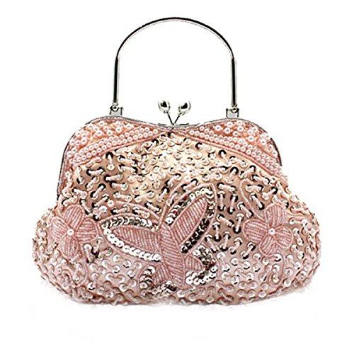 Señoras De Bolso De La Mariposa Bolsa De Dama De Noche Nueva Bolsa De Novia Pink