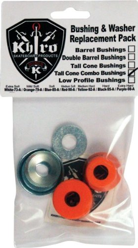 Skateboard Truck Khiro (Khiro T-Cone/L-Barrel Bushing/Wash Kit 79a M-Sft Orange)