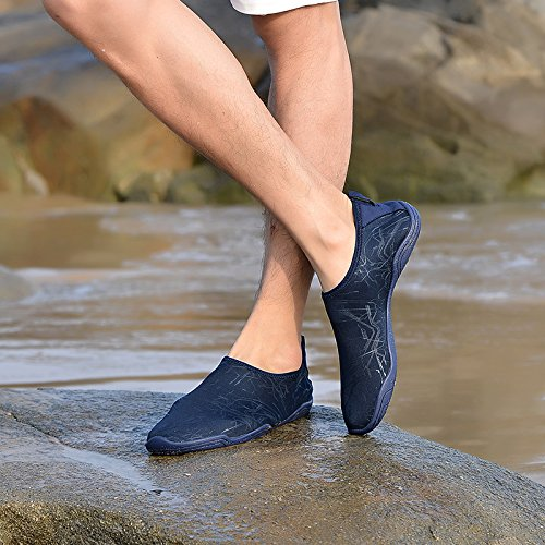 LeKuni Women's Mesh Slip on Water Shoes (15 Women/12 MenC45_N71Blue) by LeKuni (Image #6)