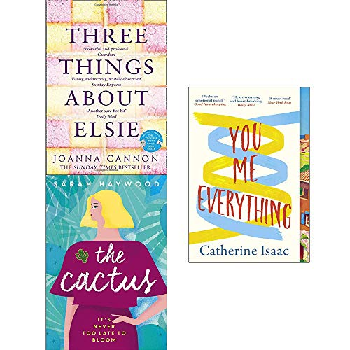 Price comparison product image Richard and Judy Book Club Collection 3 Books Set (Three Things About Elsie,  The Cactus,  You Me Everything)