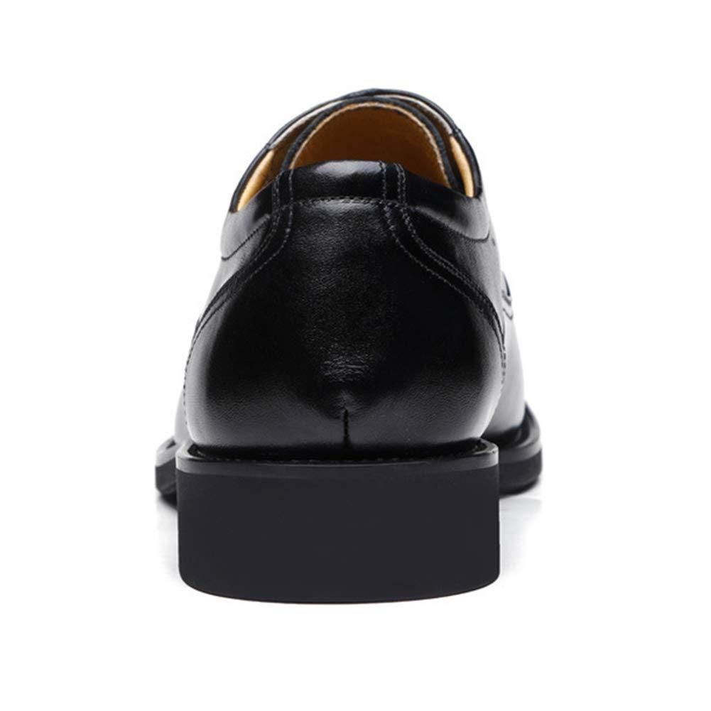 Herren Classic Kleid Schuh Leder Modern Classic Herren Lace Up Leder Perforiert Business Schuhe, Wasserdicht, Stoßdämpfung, Atmungsaktiv schwarz2 279dcf