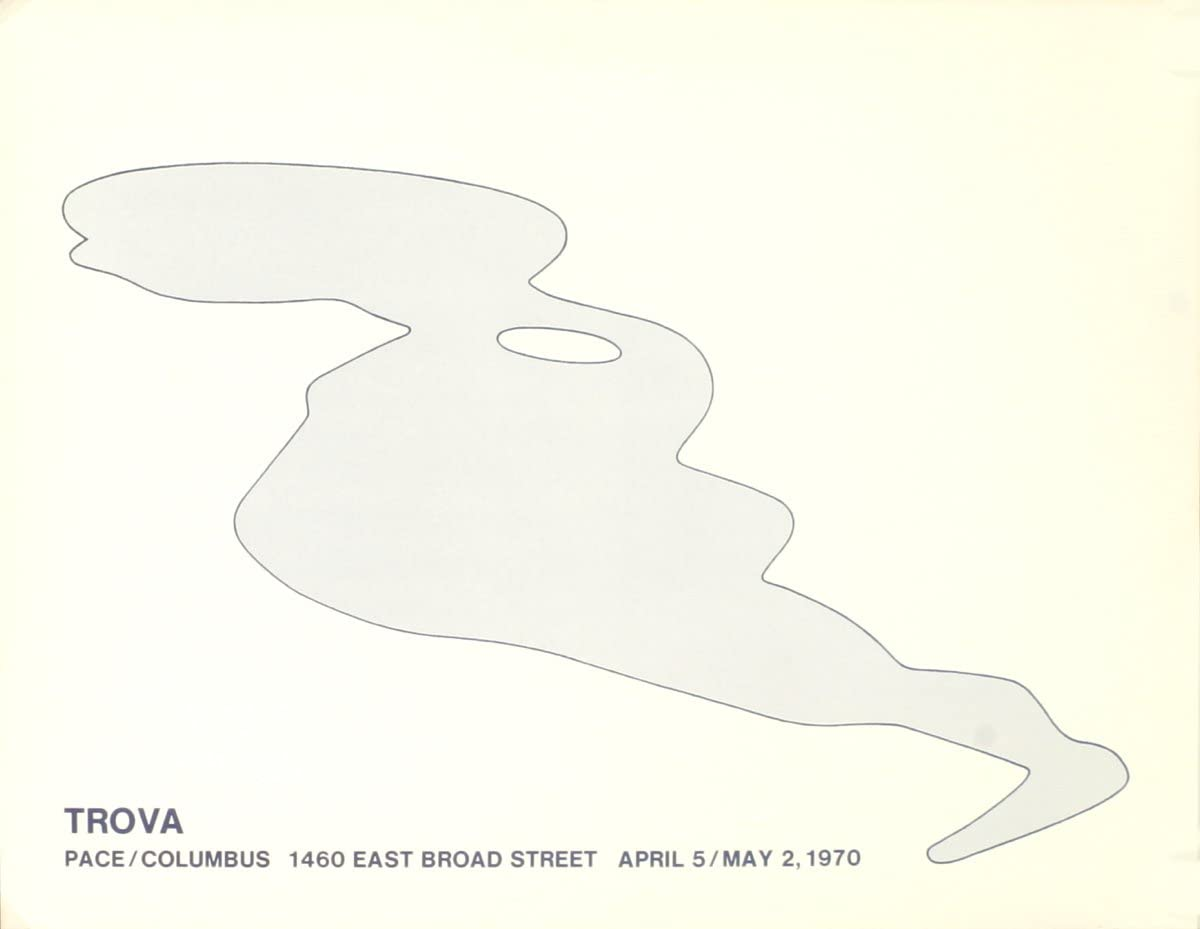 "Columbus 17.5/"" x 22.5/"" Lithograph 1970 Pop Art White ERNEST TROVA Pace"