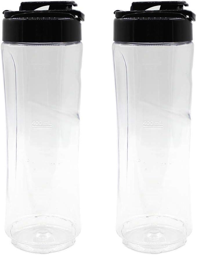 Anbige Replacement parts cups 20oz Sport Bottle Accessory, Compatible with Oster My Blend Blender (2 20oz + 2 spout lids)