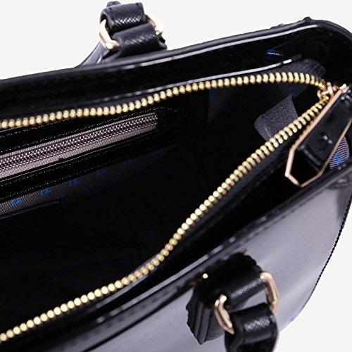 Trussardi Jeans Borsa Ischia in vernice K299 Nero - Black