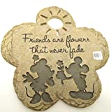Russ Berrie 636021 Mickey Mouse - Friends are Flowers that never fade Stepping Stone