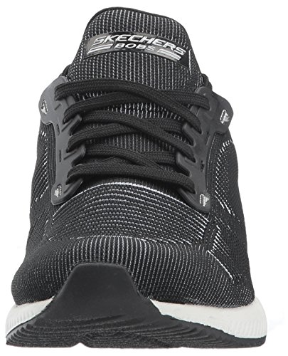Squad Negro para Twinning White sin Bobs Skechers Black Cordones Zapatillas Mujer w8xqCBYT5n