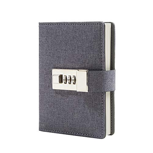 Lock Journal Combination Lock Writing Travel Diary a7 Mini Notebook (Book Lock Diary With)