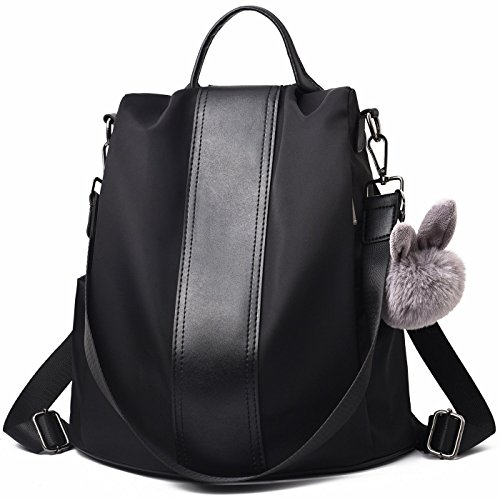 (Charmore Women Backpack Purse Waterproof Nylon Schoolbags Anti-theft Rucksack Shoulder Bags)