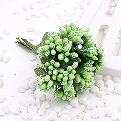 Buy Green Cheap 12pcs Artificial Stamen Flower For Wedding Home