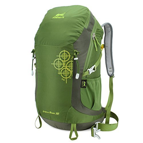 Eshow Sports 30L Internal Frame Ultralight Waterproof Backpack for Outdoor Mountaineering Hiking Traveling Climbing Camping with Rain Cover Men Women Olive Green For Sale