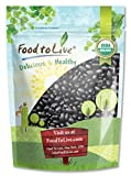 Organic Black Turtle Beans, 1 Pound - Dried, Non-GMO, Kosher, Raw, Sproutable, Vegan, Bulk