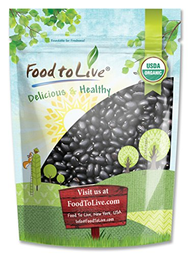 Kosher Organic Black Beans - Organic Black Turtle Beans by Food To Live (Dried, Non-GMO, Kosher, Bulk) — 3 Pounds