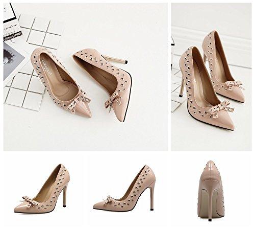 élégant hauts chaussures de sandales chaussures Été talons Marron Taille travail talons Marron de hauts sexy plage soirée chaussures mode Color 38 dames femmes 77Ypqwt