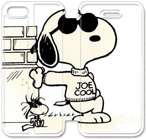 Coque iPhone 5 5S Coque Cuir, Klreng Walatina® PU Cuir de portefeuille Coque de protection pour Coque iPhone 5 5S Design By Snoopy image Téléphone T4T8Dc