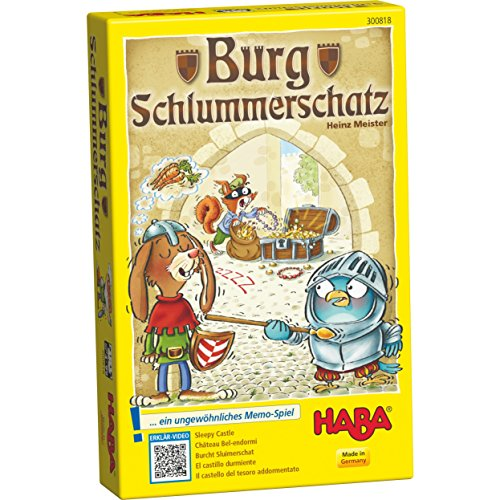 HABA Sleepy Castle - An Unusual Memory Game for Ages 4 and Up (Made in Germany) Haba Memory Game