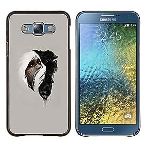 Stuss Case / Funda Carcasa protectora - Mujer & Wolf - Samsung Galaxy E7 E700