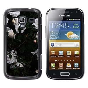 Be Good Phone Accessory // Dura Cáscara cubierta Protectora Caso Carcasa Funda de Protección para Samsung Galaxy Ace 2 I8160 Ace II X S7560M // Roses Garden Bush Flowers