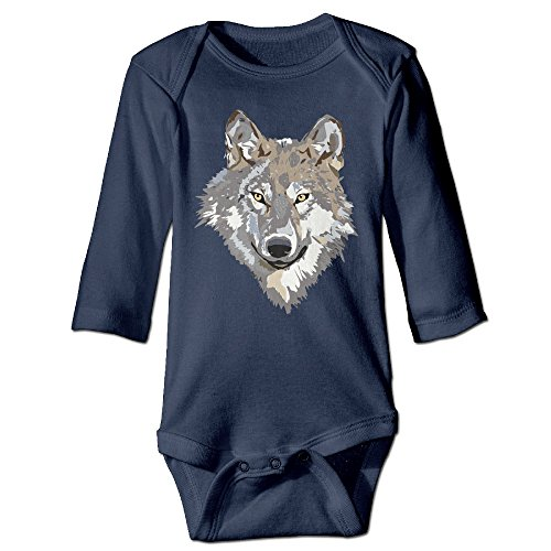 [Raymond Wild Wolf Long Sleeve Baby Climbing Clothes Navy 24 Months] (Baseball Bat Man Costume)