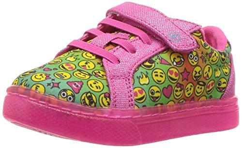 Stride Rite Girls' Lights Raz Sneaker Pink Emoji 11 Medium US Little Kid